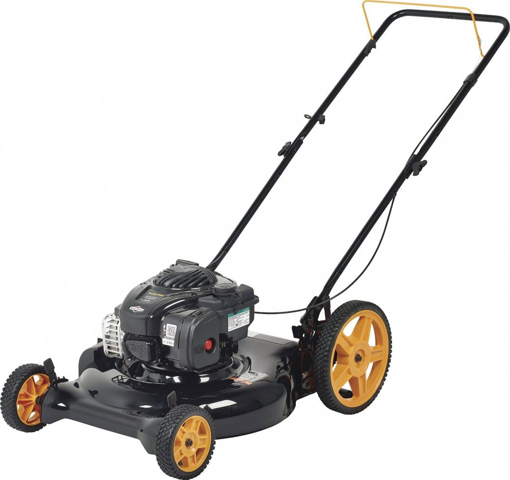Poulan Pro 961120131 PR500N21SH Briggs 500ex Side Discharge:Mulch 2-in-1 Hi-Wheel Push Mower in 21-Inch Deck, 12-inch wheels