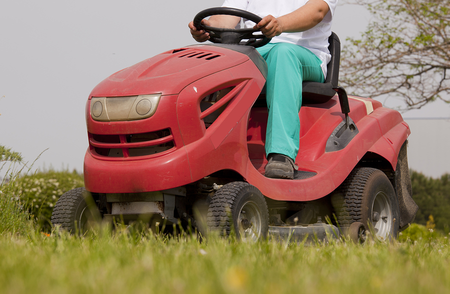 getting the lawn mower unstuck