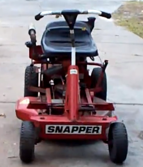old school snapper rear engine riding mowers top5lawnmowers com rh top5lawnmowers com Snapper SR1433 Steering Bracket Snapper Lawn Mower Parts