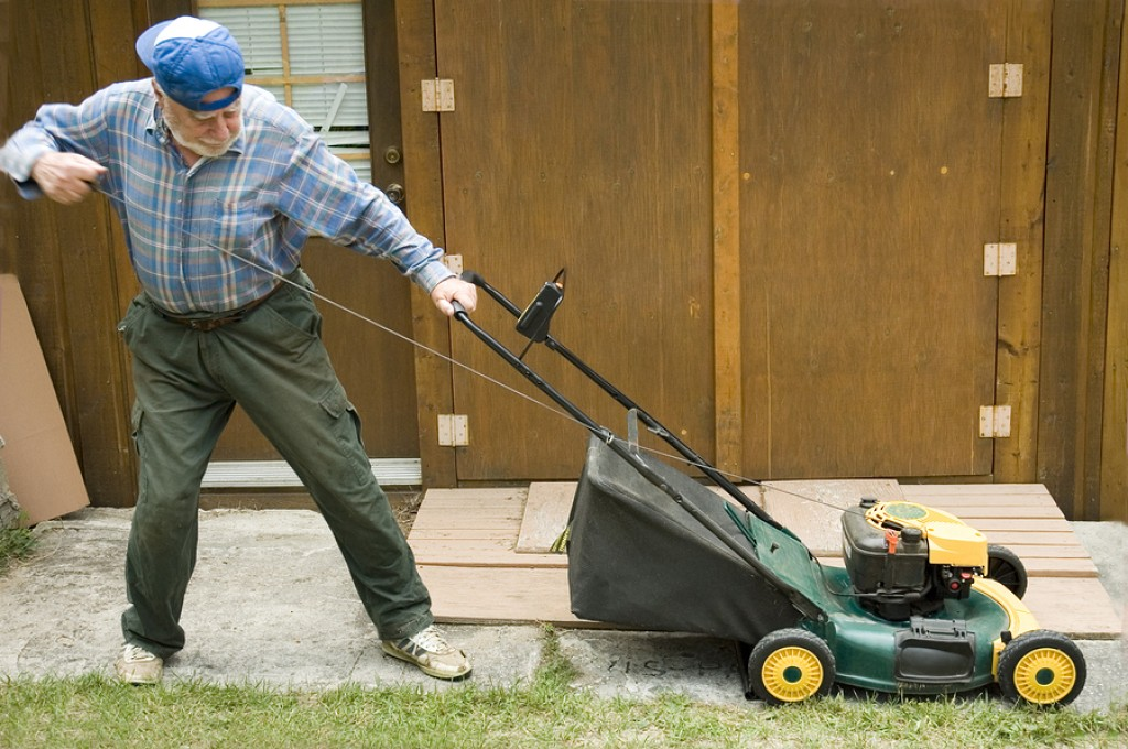 why lawn mower won´t start