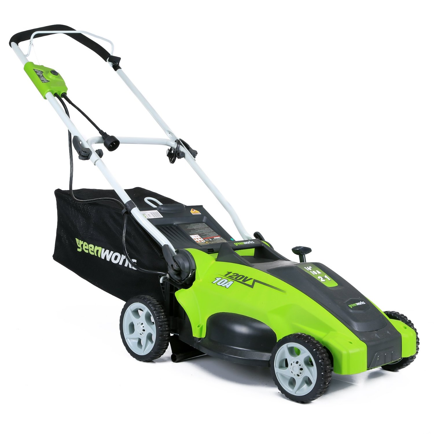 Image result for GreenWorks lawn mower reviews