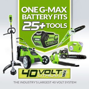 Multi-use Greenworks battery