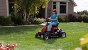 Murray Rear Engine Riding Mower in action