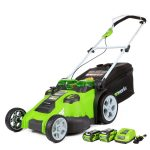 Greenworks 25302, Twin Force G-Max, 40 V Litium iOn Cordless Mower, 20 Inch Review